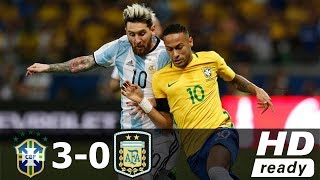 Brazil vs Argentina 3-0 - All Goals & Extended Highlights - World Cup 2018 10/11/2016 HD