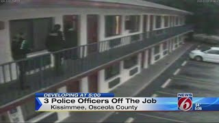 3 police officers off the job, accused of lying in court
