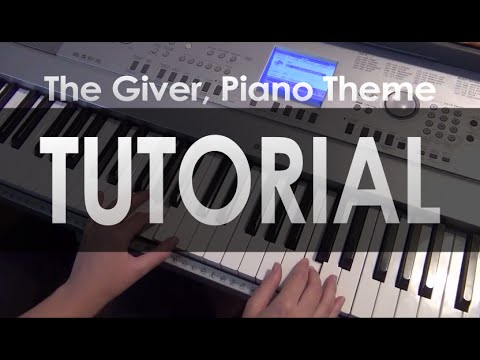 TUTORIAL: The Giver - Rosemary's piano theme (with an ending)