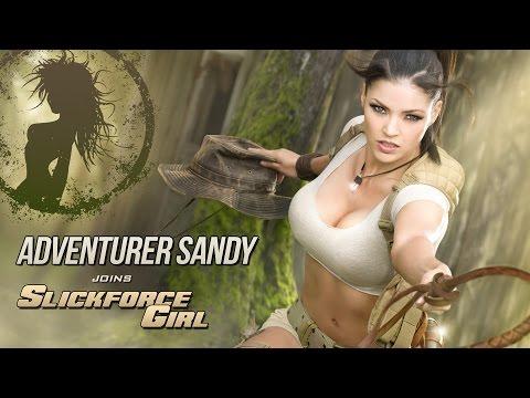 Sandra McCoy Suits Up for SlickforceGirl