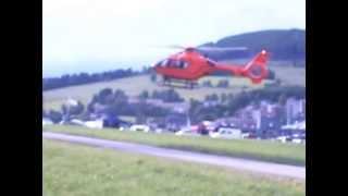 Landung Christoph 7 in Willingen. Der dritte Einsatz am Tag.