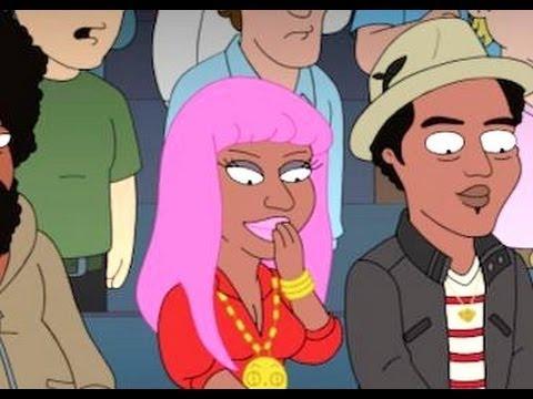 Nicki Minaj & Kanye West 'Cleveland Show' Hip Hop Illuminati Parody