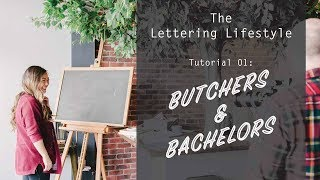 The Lettering Lifestyle | Butchers and Bachelors Party Inspiration
