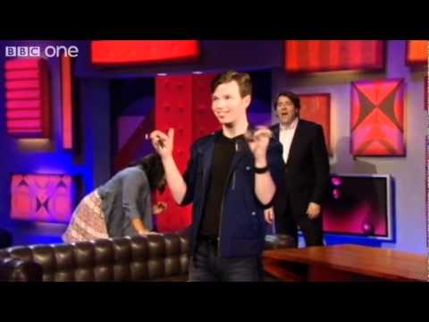 Glee's Chris Colfer shows his sai swords skills   Friday Night With Jonathan Ross   BBC One 480p