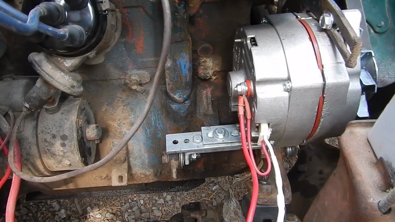 Guide For Automotive (Jeep) Generator To Alternator Conversion - Mounting on