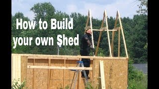 How to Build a $300 Shed by Yourself