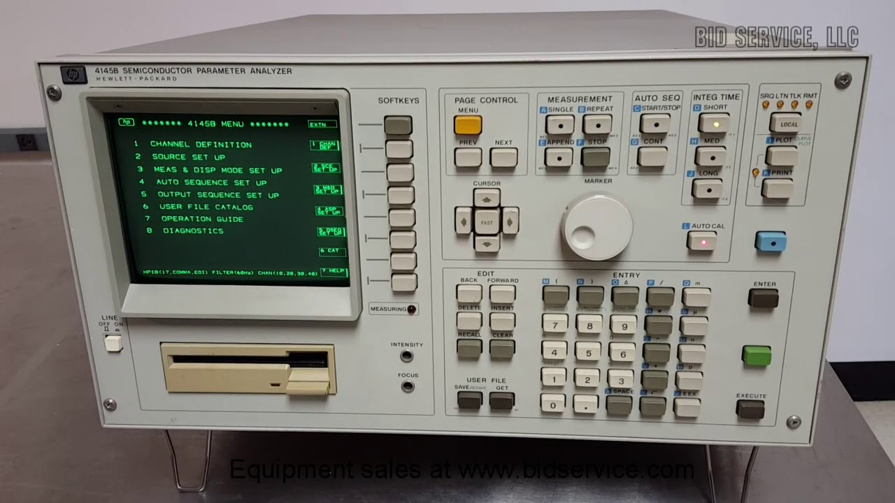 Hewlett Packard 4145b Semiconductor Analyzer 53327 Youtube