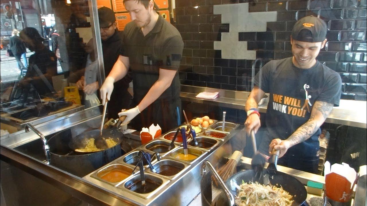 Asian Street Food Stir Fried Veggie Dish With Whole Grain