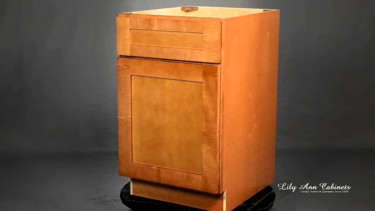 Lily Ann Cabinets Shaker Cinnamon Cabinet Features