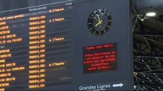 Reprise de la grève SNCF à la gare Saint-Lazare à Paris