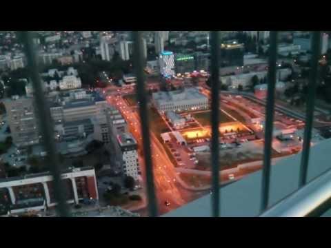 Sarajevo view from the Avaz Twist Tower