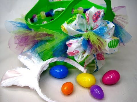 How to make a Bright and Colorful Easter Basket from Dollar Tree ~ Featuring Miriam Joy