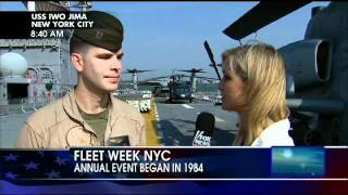 Ainsley Earhardt Celebrates Fleet Week on the USS Iwo Jima