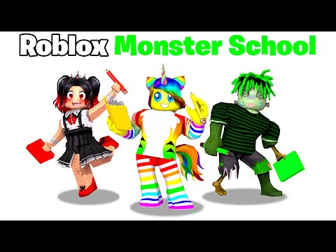 My FIRST Day at MONSTER SCHOOL in Roblox! 👻🧠