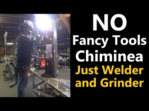 No CNC Chiminea. Beginner Welding Project with Plans