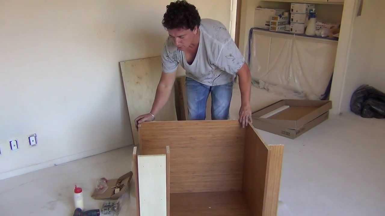 assembly instructions frameless rta vanity cabinet youtube