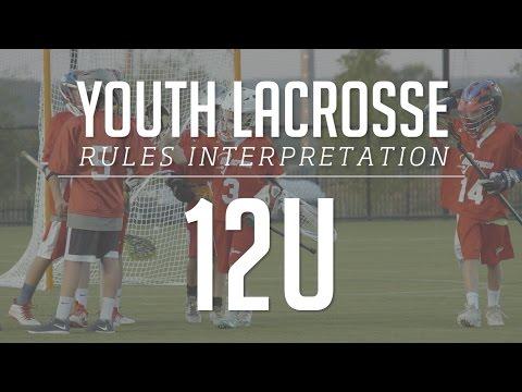 12U Boys Lacrosse Rules Interpretation 2017