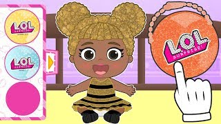 👶 BABY LILY  👶 Dressing up as LOL Surprise DOLLS  Glitter  | L.O.L. Surprise Dolls Cartoons