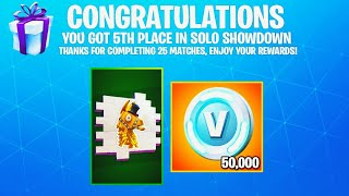 i won Solo Showdown.. then THIS happened!! (Solo Showdown Rewards)
