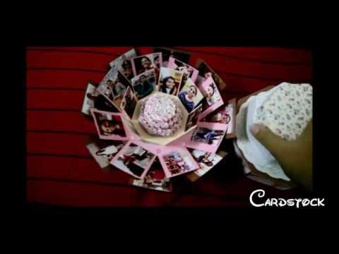 Octagonal Explosion Box Card Cardstock Youtube