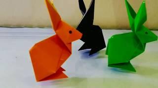 Origami/ cara membuat kelinci dari kertas/ origami rabbit