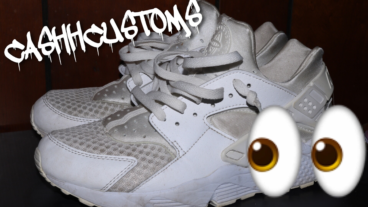 43c464591f55 Custom Huaraches (Time Lapse Custom)  CashhCustoms - YouTube