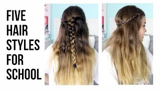 My 5 Favorite Hairstyles for School | lindseyrem Thumbnail