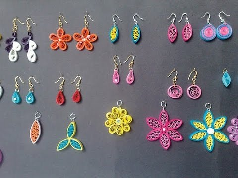 Quilling earrings light weight