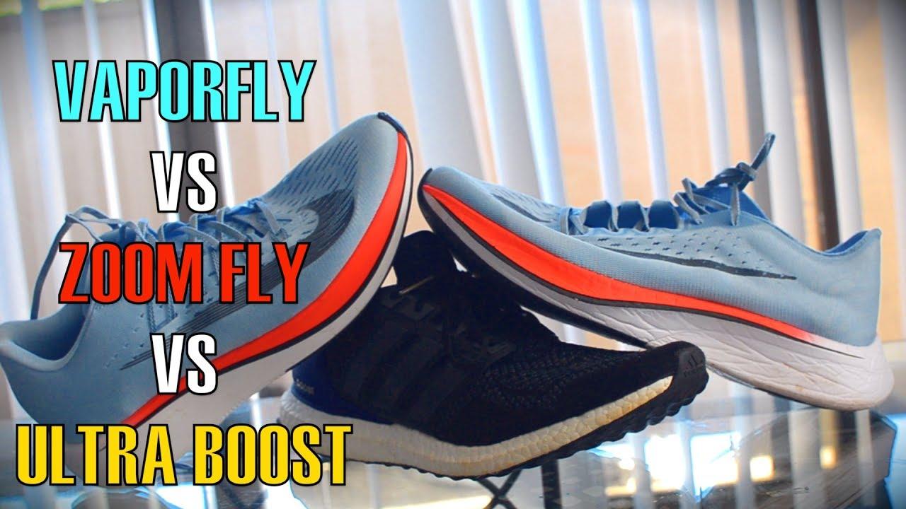 adidas ultra boost vs flyknit lunar 3