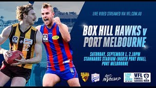 Elimination Final: Box Hill Hawks v Port Melbourne
