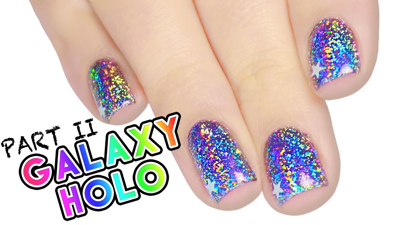 Color Changing Holographic Galaxy Nails WITH THERMAL GEL! | PART 2 ...