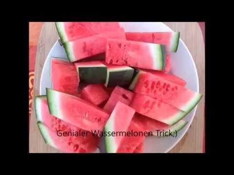 Wassermelone schneiden schnell Genialer Trick Superfood Fakten zur Gesundheit