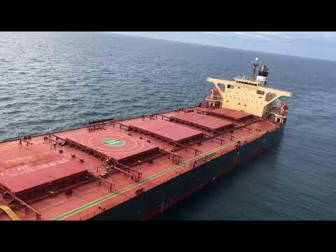 Deep draft bulk carrier deck landing