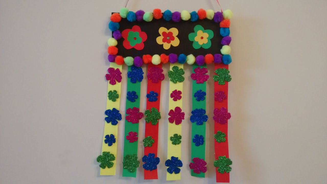 Awesome Wall Hanging Craft Ideas For Kids Part - 2: Craft Idea- Simple And Easy Wall Hanging Idea For Kids - YouTube