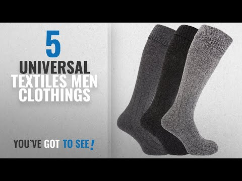 Top 10 Universal Textiles Men Clothings [ Winter 2018 ]: Mens Knee High Chunky Thermal Wool Boot