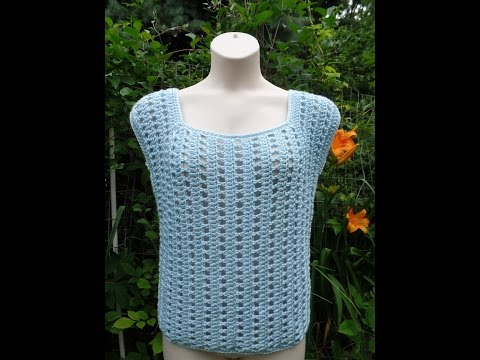 CROCHET How to #Crochet Easy Womens Ladies Top Blouse Shirt #TUTORIAL #246 LEARN CROCHET
