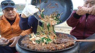 잡채밥? 짜장밥? 둘 다 있는 [[잡채짜장밥(Jjajang sauce rice with japchae)]] 요리&먹방!! - Mukbang eating show