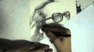 Cem Karaca karakalem çizimi-RAYU ART