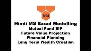 4. Hindi: MS Excel SIP Future Value Calculator (Financial Planning)