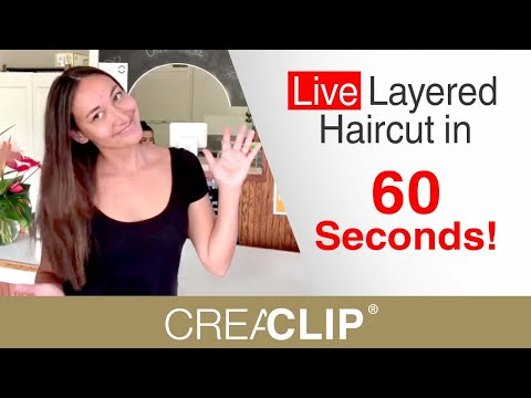 Live Layered Haircut in 60 Seconds! As Seen on Shark Tank CreaClip!
