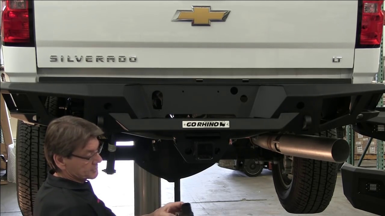 Go Rhino Br20 Rear Bumper Overview And Installation 2015 Chevy Gmc Sierra Wiring Plug Silverado Hd 28173t