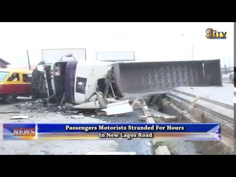 Passengers and motorists stranded for hours in New Lagos Road
