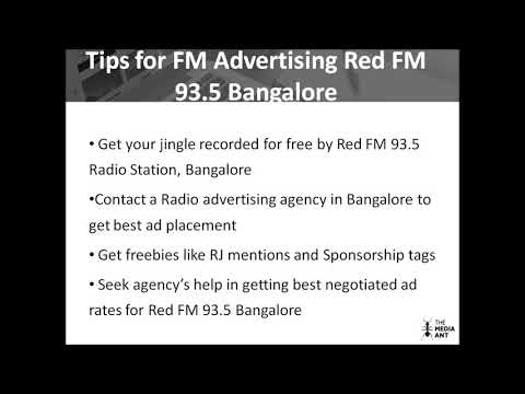 Details for Red FM 93 5 Bangalore advertising