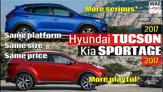 2017 Hyundai Tucson vs 2017 Kia Sportage (technical comparison)
