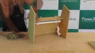 Makrol: видео-урок по сборке кормопоилки клетки для кроликов