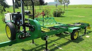 Home Built Trailer for my Hudson HFE-21 Sawmill