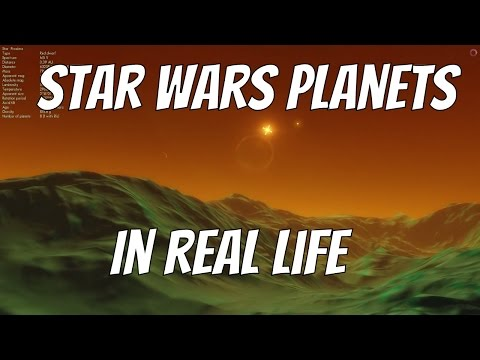 Star Wars Planets in Real Life - Space Engine