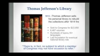 Jefferson's Legacy: A Brief History of the Library of Congress