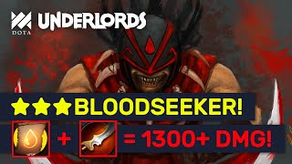 ★★★ BLOODSEEKER 1300+ DMG! EPIC Contract + Pike Build! | Dota Underlords