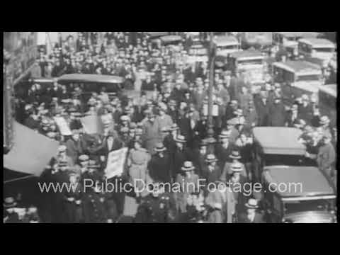 Communist Rally in New York City 1932 archival newsreel footage